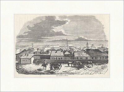 Jassy, Hauptstadt der Moldau Rumänien Fürstentum Fluss Pferde Holzstich E 18906