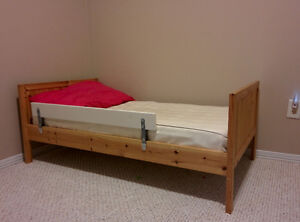 Ikea Toddler Bed with side rail
