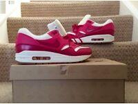 Genuine Nike Air Max 1 White/Pink
