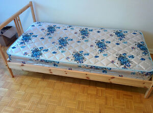 IKEA single bed frame and mattress