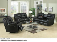 BRAND NEW 3PC AIR LEATHER RECLINER SOFA SET FOR SALE