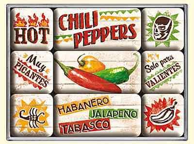 CHILE Pimientos Set of 9 Mini Imanes de nevera (na)