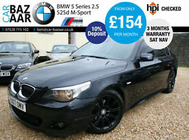 BMW 525d 2.5 M Sport+SEPT 17 MOT+2 KEYS+JUST SERVICED+SAT NAV+