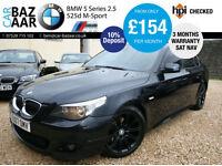 BMW 525d 2.5 M Sport+SEPT 17 MOT+2 KEYS+JUST SERVICED+SAT NAV+