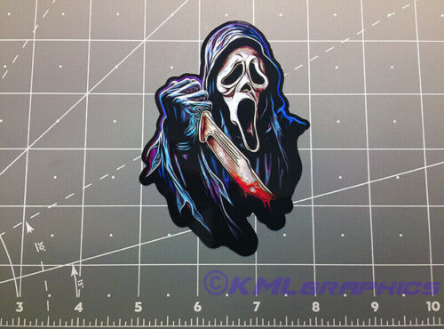 Ghost Face Scream vinyl decal sticker 90s horror STAB movie ghostface halloween