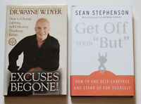 "2 Book Lot: Excuses Begone!- Dr.Wayne Dyer  + Get Off Your ""But"""