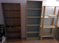 3 bookcases/shelves (IKEA)