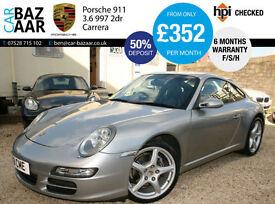 Porsche 911 3.6 997 Carrera 2dr+F/S/H+SAT NAV+JUST SERVICED+PRIVATE PLATE