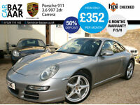 Porsche 911 3.6 997 Carrera 2dr+F/S/H+SAT NAV+JUST SERVICED+PRIVATE PLATE