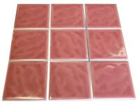 8 M2 Pastel Pink ceramic tile in 10 x 10cm ((( Job Lot x 8 Boxes )))