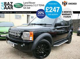 Land Rover Discovery 3 2.7TD V6 auto GS+F/LRS/H+REAR ENTERTIANMENT+SAT NAV