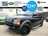 Land Rover Discovery 3 2.7TD V6 auto GS+F/LRS/H+REAR ENTERTIANMENT+SAT NAV