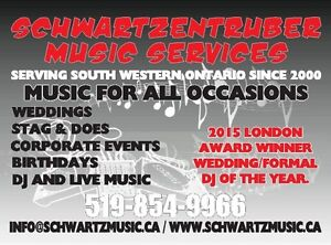 SCHWARTZENTRUBER Music Services - DJ London Ontario image 5