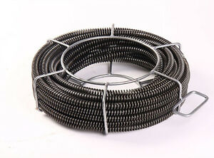 65'×5/8''Sectional Pipe Drain Cleaning Cable 191029