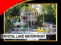 Waterfront 4-season home on Crystal Lake 4 br/4 bath
