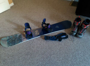 Burton Dragon 62 Board, Salomon SPX 5 Bindings + Acc. $400 OBO