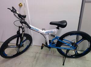 NESTLAND 24'' High-Carbon Steel folding bike 21-ed NL-Q-21Spe