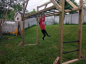 Monkey Bars Backyard Set - Adjustable Height