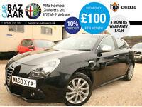 Alfa Romeo Giulietta 2.0 JTDm-2 ( 170bhp ) Veloce+F/S/H+2 KEYS+JULY 18 MOT