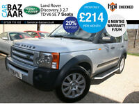 Land Rover Discovery 3 2.7TD V6 auto SE+F/S/H+NAV+LEATHER+CAMBELT