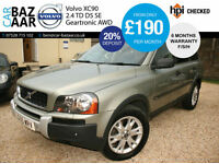 Volvo XC90 2.4 AWD 185 D5 SE+F/S/H+NEW CAMBELT+2 OWNERS+RARE MANUEL+2 KEYS