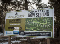 SAPRAE CREEK 2 ACRE COUNTRY RESIDENTIAL LOTS
