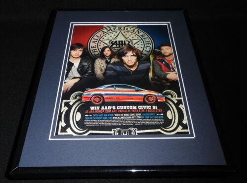 All American Rejects / Honda Civic 2009 Framed 11x14 ORIGINAL Advertisement