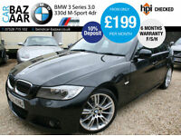 BMW 330 3.0TD M Sport+F/S/H+SEPT 2017 MOT+2 OWNERS+2 KEYS