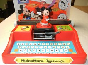 MICKEY MOUSE TYPEWRITER - WITH BOX - 1975 Windsor Region Ontario image 2