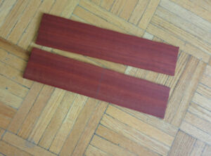 Knife handle and straight razor scale exotic Wood