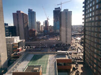 1 bed room in high-rise building in downtown @ 8th LRT.