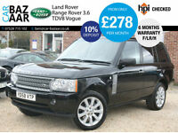 Land Rover Range Rover 3.6TD V8 auto Vogue+FULL LAND ROVER HISTORY+REAR SCREENS