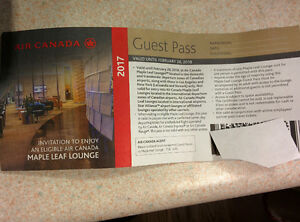 New Air Canada Lounge Passes (Expire in Feb 2018)