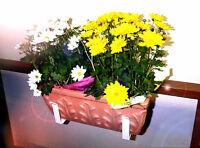 NEW BALCONY RAILING FLOWER WINDOW BOX GARDEN PLANTS BRACKETS
