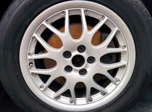 4 roues BBS avec 4 pneus Sport Continental ExtremeContact DW.