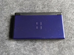 Nintendo DS Lite, case, car charger, Brain Age + 3 more games
