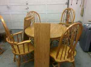 Solid Oak Table and chair set