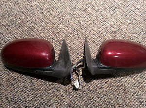 2000-2003 Nissan Maxima Side Mirrors Left + Right (OEM) Red