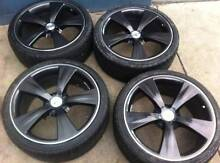 """4xnew 20"""" ford dark agent wheels $1550with 225/35r20 or 245/35r20 Girraween Parramatta Area Preview"""