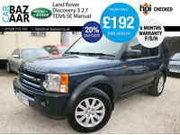 Land Rover Discovery 3 2.7TD V6 SE+RARE MANUAL+NEW CAMBELT+NEW CLUTCH+F/S/H
