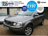 Volvo XC90 2.4 D5 AWD Active+1 DR OWNER+F/S/H+RARE MANAUL+2 KEYS