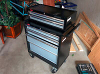 Husky 27 in 4-Drawer Tool Cabinet with 27 In 3-Drw Intermediate