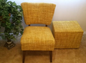 Side Chair, Accent Chair, Walnut Cabinet, Floral Arrangement