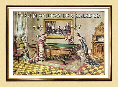 PLAKAT Brunswick & Balke NEW YORK CHICAGO SAN FRANCISCO XL 220 im Goldrahmen Malerei Chicago