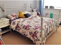 Lovely Victorian style cream metal bed