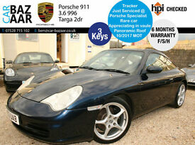 Porsche 911 3.6 996 Targa+F/S/H+PANORMAIC ROOF+3 KEYS+TRACKER+RARE