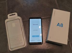 Unlocked Samsung Galaxy A8 (2018) w/Case & Warranty