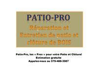 Patio-Pro - Réparation et Entretien de Patio et Clôture de bois