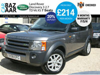 Land Rover Discovery 3 2.7TD V6 auto XS+1 DR OWNER+F/S/H+NEW CAMBELT+SAT NAV
