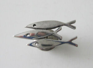 3 Fish 925 Sterling Silver Pin